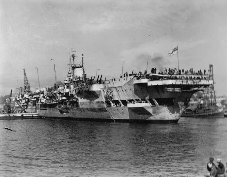 Image result for hms indomitable 1945