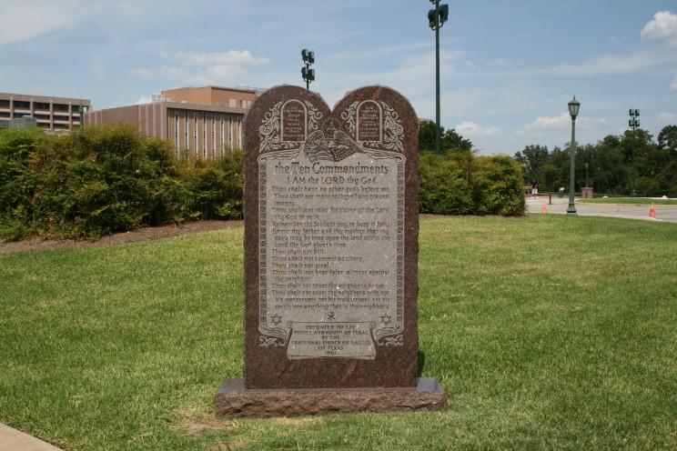 Maritimequest Ten Commandments Monument Austin Texas
