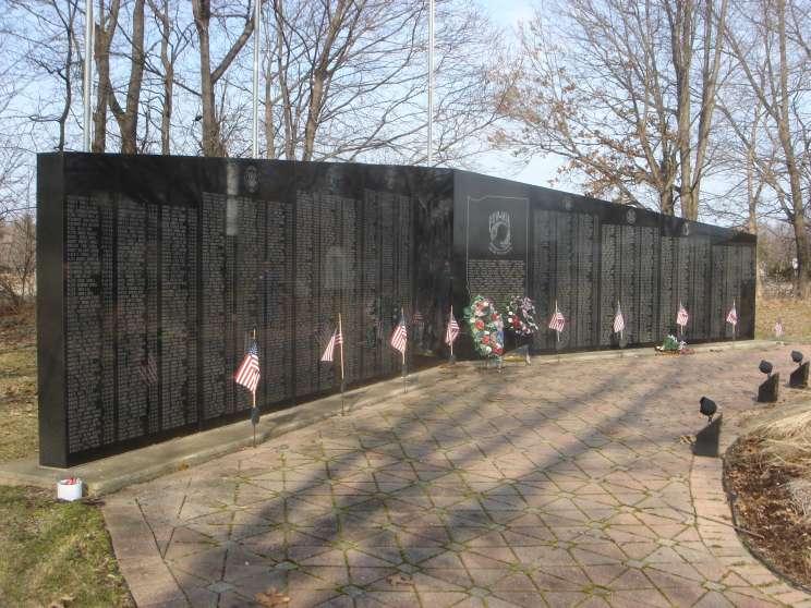 MaritimeQuest Vietnam Veterans Memorial Wall Chesterton