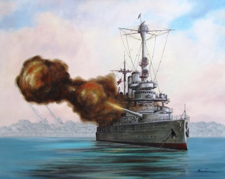Schleswig Holstein Battleship Art of Schleswig-holstein