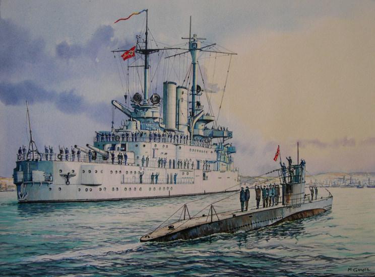 Schleswig Holstein Battleship Passing Schleswig-holstein