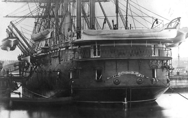 Maritimequest Hms Northumberland 1868