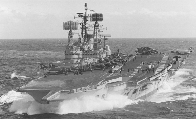 Image result for HMS Ark Royal R09 island