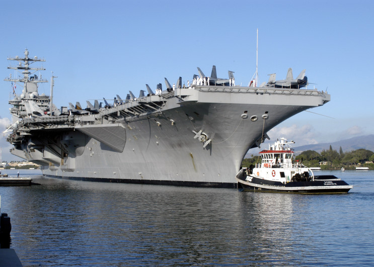 US aircraft carrier Nimitz off S. Korea for drill