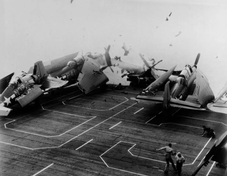 Maritimequest Uss Bismarck Sea Cve 95