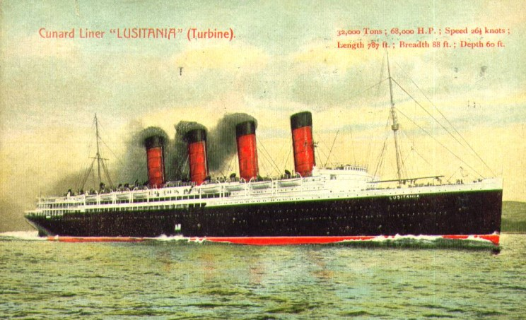 Maritimequest Lusitania 1907 The Art Of Lusitania