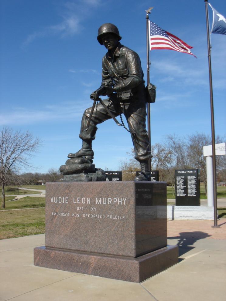 Maritimequest Audie Murphy Hunt County War Memorial Greenville Texas Page 3